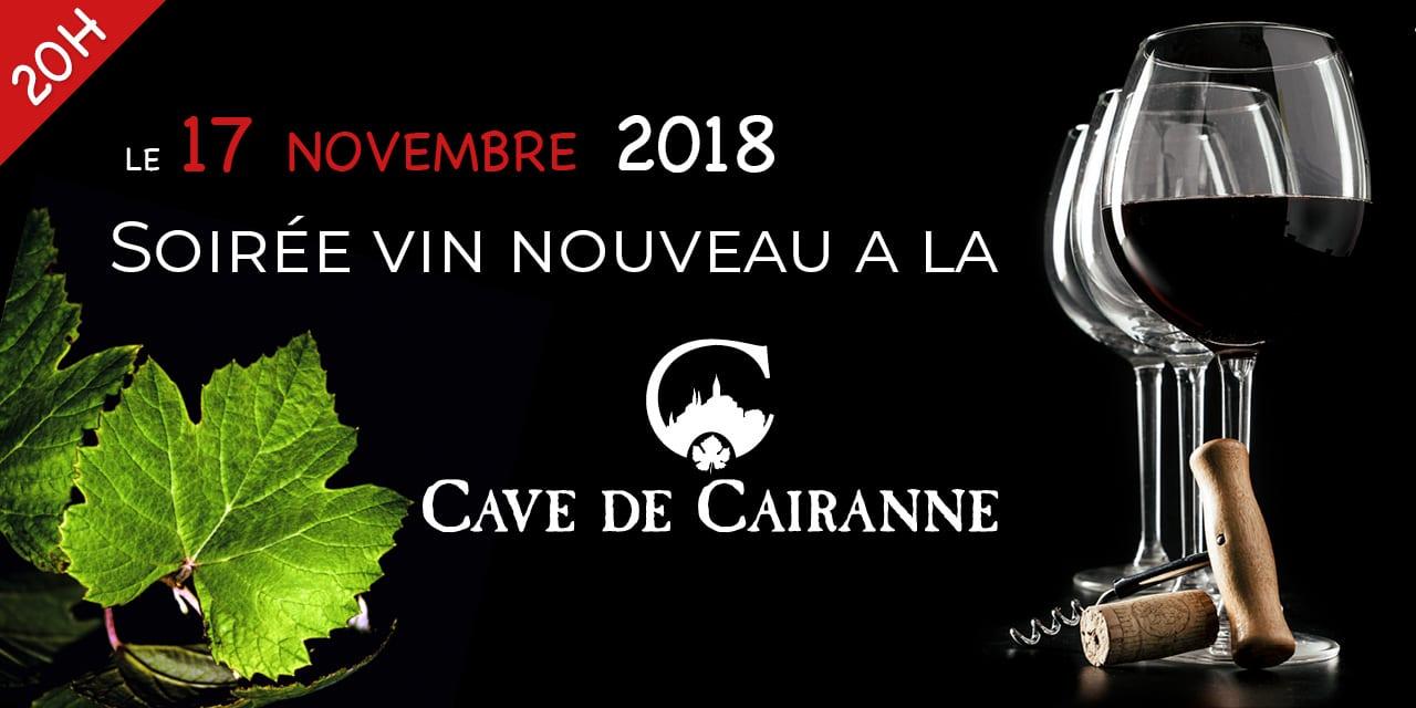 Soiree Vin Nouveau le samedi 17 Novembre