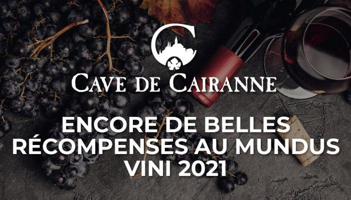 Encore de belles récompenses au Mundus Vini 2021